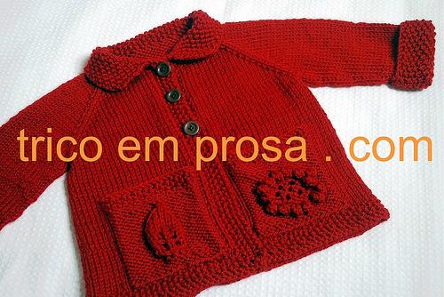 trico em prosa.com - Receita traduzida do Cardigã Flora