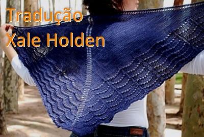 tricô em prosa - Receita traduzida Xale Holden