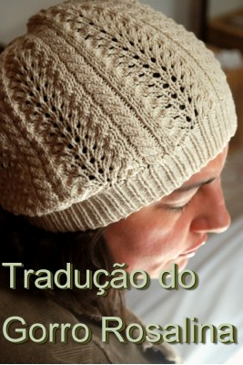 tricô em prosa - receita traduzida - Gorro Rosalina