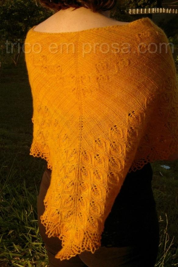 tricô em prosa - um xale que reluz - Xale Goldmarie