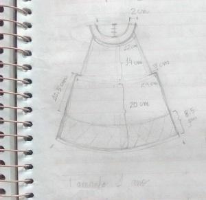 tricô em prosa - croqui da salopete medidas em centímetros
